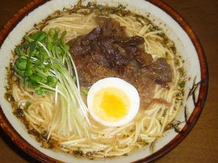 【五木食品】くまモンの辛子高菜入り熊本ラーメン ストレートノンフライ麺